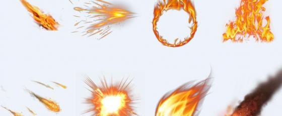ps火焰设计元素素材