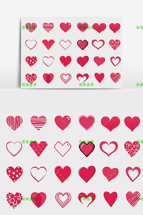 心形素材图片AI