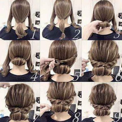 儿童简单盘发视频简易好学加简单的盘发方法图解