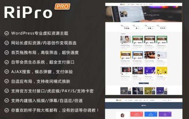 wordpress免费主题,Ripro8.7破解版,无限制下载免费用!